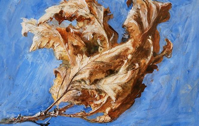 Painting of Dead Oak Leaves by John Ruskin